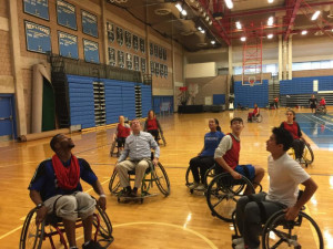 Wheelchair basketball at YMCA South Shore Quincy
